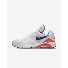 Nike Air Max 180 Lifestyle Shoes For Men White/Red 615287-100