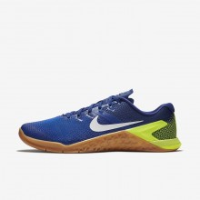 Nike Metcon 4 Training Shoes For Men Blue/Brown/White AH7453-701