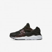 Nike Huarache Lifestyle Shoes For Girls Black/Pink/White 859591-006