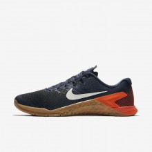 Nike Metcon 4 Training Shoes For Men Blue/Black/Red/White AH7453-401