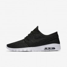Nike SB Stefan Janoski Max Skateboard Shoes For Men Black/White/Black 631303-022