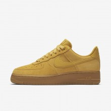 Nike Air Force 1 Lifestyle Shoes For Women Yellow/Light Brown/Gold/Yellow 896184-700