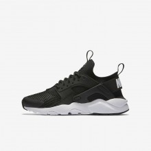 Nike Air Huarache Ultra Lifestyle Shoes For Boys Black/White 847569-002