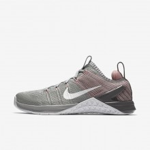 Nike Metcon DSX Flyknit 2 Training Shoes For Women Silver/Pink/White 924595-002