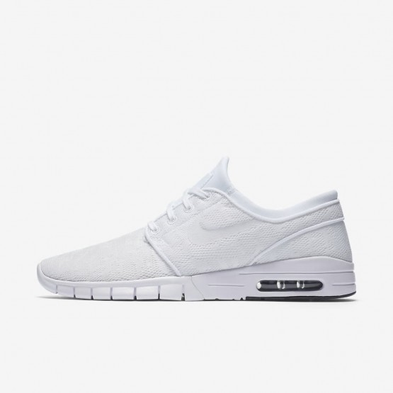 Nike SB Stefan Janoski Max Skateboard Shoes For Men White/Obsidian/White 631303-114