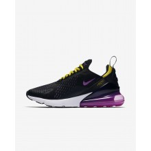Nike Air Max 270 Lifestyle Shoes For Men Black/Purple/Yellow AH8050-006