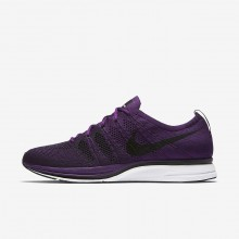 Nike Flyknit Trainer Lifestyle Shoes For Men Purple/White/Black AH8396-500