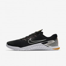 Nike Metcon 4 Training Shoes For Men Black/Orange/Fuchsia/Metallic Silver AH7453-008