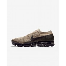 Nike Air VaporMax Flyknit Running Shoes For Men Khaki/Dark Grey/Black 849558-201