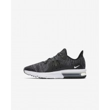 Nike Air Max Sequent 3 Running Shoes For Boys Black/Dark Grey/White/Metallic 922884-001