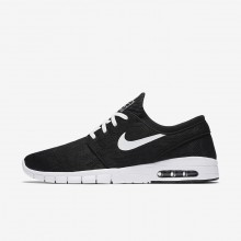 Nike SB Stefan Janoski Max Skateboard Shoes For Men Black/White 631303-010